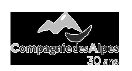 Logo Compagnie des Alpes 30 ans